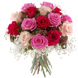 Kolorowe róże Telekwiaciarnia